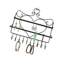 Bathroom Wall Mount Jewelry Organizer Hanging Earring Holder