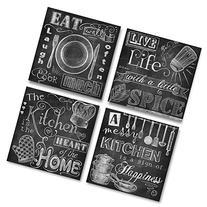 Beautiful, Fun, Chalkboard-Style Kitchen Signs; Messy
