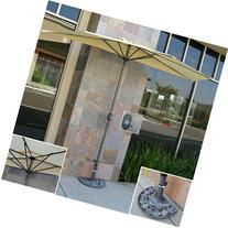 Best Choice Products Patio Umbrella Half With Umbrella Stand