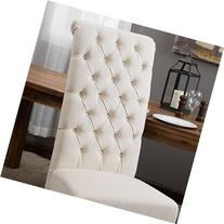 Best Selling Natural Tall Tufted Dining Chair, 2-Pack