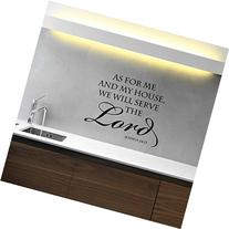"""Joshua 24 15 Wall Art Bible Scripture Lettering """"As For Me"""