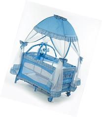 Big Oshi Playard With Mosquito Net & Cary Bag, Pink