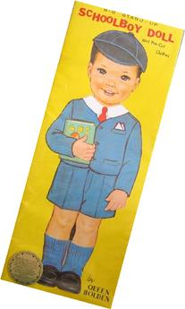 Big Stand Up Schoolboy Doll: Queen Holden Reproduction Paper