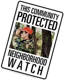 Bigfoot Neighborhood Watch Tin Sign