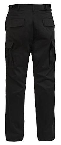 Black BDU Pants, Military Fatigues, Large