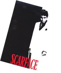 JPI Black White Red Scarface  Shower Curtain with 12 Hooks