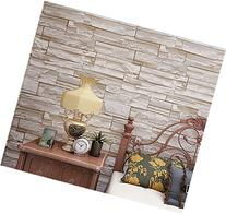 Blooming Wall: 3d Stone Brick Wallpaper Wall Mural,20.8 In32