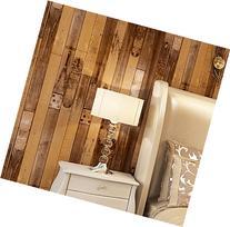 Blooming Wall: Wallpaper Faux Vintage Wood Panel Wood Plank