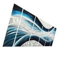 Blue Desire Metal Wall Art, Large Scale Metal Wall Decor in