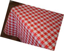 "Blue Hill, 52""x90""; Classic Red Tavern Check, Flannel Backed"