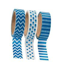 Blue Washi Tape Set - 16 Ft. Of Tape Per Roll  by Fun
