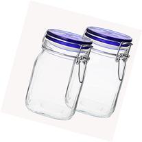 Bormioli Rocco SYNCHKG055590 Fido Square Jar Lid-33¾ oz 1L