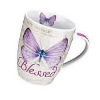 Botanic Butterfly Blessings Purple Blessed Mug - Jeremiah 17