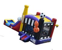 Bounce House Inflatable Deluxe Sports Combo Wet or Dry Slide