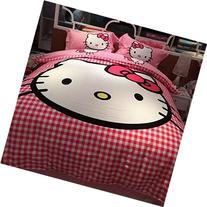 Brandream Pink Hello Kitty Bedding Cute Cartoon Kids Bedding