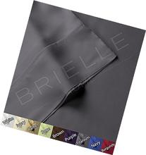Brielle 100-Percent Rayon Bamboo Duvet Cover, King, Titanium