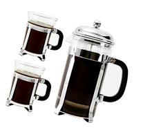 Bruntmor, Premium 34 Oz French Press set 2 mugs 7oz Double