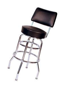 Budget Bar Stools 1958BLK Double Ring Commercial Bar Stool