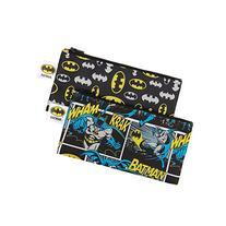 Bumkins DC Comics Reusable Snack Bag Small 2 Pack, Batman