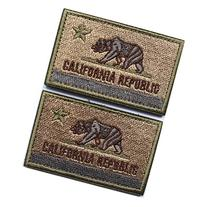 Bundle 2 pieces - American US California state flag