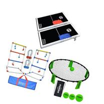 Bundle: GoSports CornHole PRO Regulation Size Bean Bag Toss