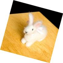 Bunny Wool Needle Felting Craft Kit by WoolPets. Made in the