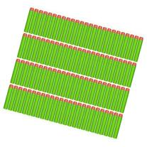 CLOURF 100 Pcs 7.2cm Green Foam Darts for Nerf N-strike