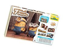 Cardinal Industries Minions Wood Puzzles with Storage Box
