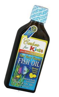 Carlson Kid's The Very Finest Fish Oil, Lemon, Norwegian,