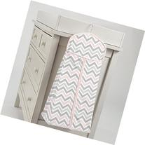 Carousel Designs Pink and Gray Chevron Diaper Stacker