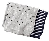 2 pk Swaddle Blanket- Navy Grey - Navy Grey