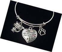Cats Leave Paw Prints on our Heart Charm on a Silver
