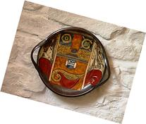 Ceramic Serving Platter, Wall Hanging Pottery Dish. Wall