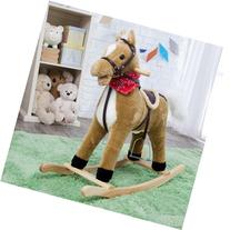 Charm Company Blonde Horse Rocker Moving Mouth & Tail Ride