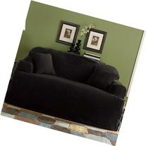 Chezmoi Collection Soft Micro Suede Solid Black T-cushion