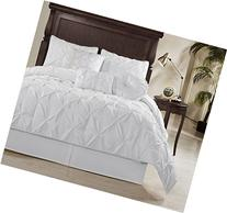 Chezmoi Collection Sydney 7 Piece Pintuck Comforter Set,