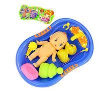 Child Pretend Role Play Baby Doll Bathing Shower Bath Tub