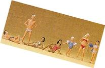 Children & Youths at Pool Standing & Laying  HO Scale