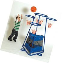 Children's Factory 4-Rings Basketball Stand with Storage Bag