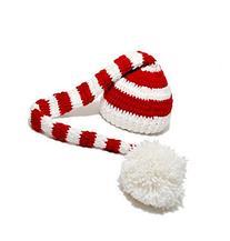 Christmas Baby Boy Girl Crochet ELF Long Tail Pom-pom Hat