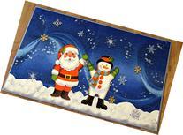 "Christmas Doormat Non Slip Rectangular 24"" X39"" Xmas Snow"