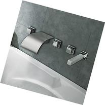 Chrome Finish Curve Waterfall Bathroom Tub Faucet