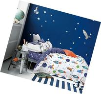 Cliab Space Bedding For Girls Queen Size Kids Duvet Cover