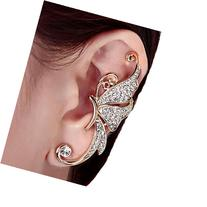 Clip Clamp Earring Creazy Women's Cute Crystal Butterfly