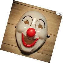 Clown Mask Halloween Masquerade Party - White + Black + Red