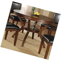 Coaster 102171 Nelms Round Dining Table With Storage Shelf