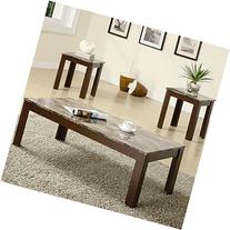 Coaster Fine Furniture 700395 3-Piece Coffee Table and End