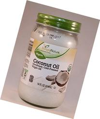 Coconut Oil Unrefined Cold-pressed Virgin Oil Organic 14 Oz