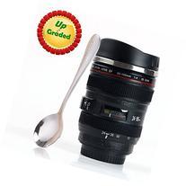 Coffee Mug - Camera Lens Travel Thermos - Stainless Steel