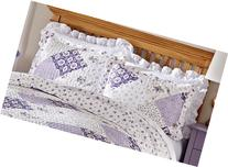 Quilted Floral Patchwork Wilmington Pillow Sham, Machine